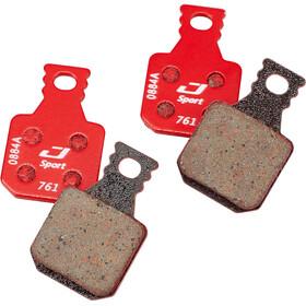 Jagwire Sport Semi-Metallic Levyjarrupalat Varten: Magura MT7/MT5/MT Trail Etu- 1 pari, red